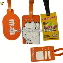 2013 New product clothing popular brand name silicone zipper tag