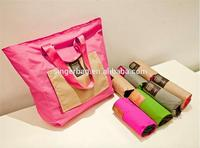 Folding shopping bag, canvas bag bag clothes to sort out the large capacity one shoulder bags handbags luggage