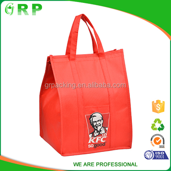 ISO/BSCI Laminated pp woven folding thermal insulated lunch cooler bag