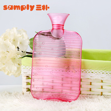 Free sample 1000ml heart shape hot water bag / bottle for baby with hot sale