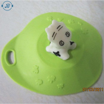 custom silicone magic mug cup cover lids/Cartoon Cup Cover Sealed Suction Lid Cap/Reusable Leakproof Silicone Cup Lid Cover