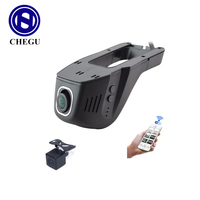front view and rearview Wifi Car DVR Registrator Digital Video Recorder Cam corder Dash Camera Cam 1080P Night Version