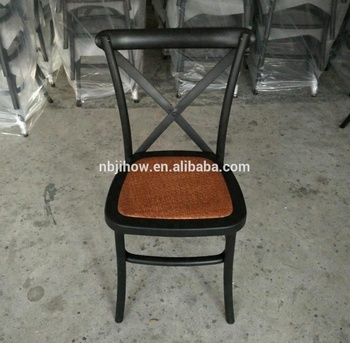 factory supply hot sale strong stackable resin cross back dining chair