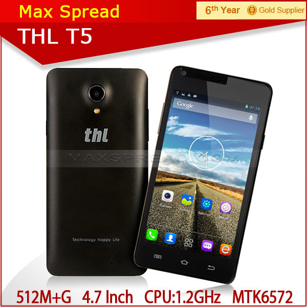 4.7 inch Cheap 3G Dual Core MTK6572 Android4.2 THL T5 Mobile Phone