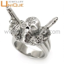 Wholesale Stainless Steel Skull Biker Rings (R2363)