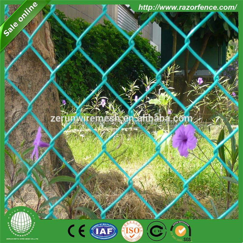 baseball fields used PVC coated chain link fence for sale