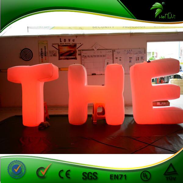 Inflatable Wedding Alphabet with LED Lights for Event, Advertising Letters for Wedding, Surprise Toy for Sale