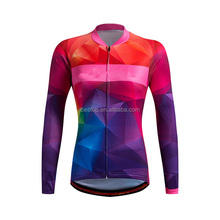 Female cycling jersey long sleeve summer jersey kits cycling jersey and pants set for women