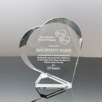 Crystal heart gift crystal gifts items corporate awards small crystal gifts