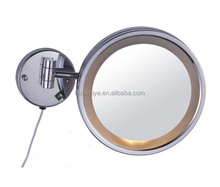 HSY-2078 wall mounted magnifying lighted electric makeup wall mirror