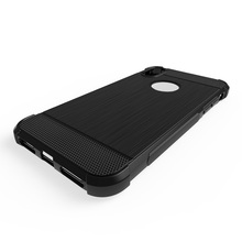 brush soft tpu case for iphone X case shockproof carbon cover for iphone X