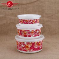 New 3-piece Cute Doraemon Ceramic Clear Food Bowl Storage Containers Set