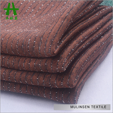 Mulinsen Textile Knitting Plain Dyed Polyester Spandex Shinny FDY Silver Fiber Fabric