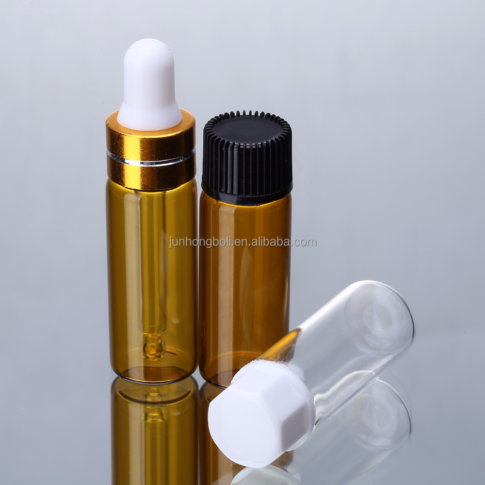 Empty cosmetic container 5ml attar bottle eliquid glass dropper bottles 5ml glass vial wholesale