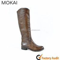 25203 BROWN Yellow brown long boots for women, Ladies fashion nice boots , leather elegant boots