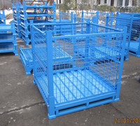 Forklift operation warehouse steel storage pallet bin