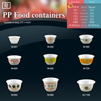 R-PP04-Plastic disposable 6/8/12/14/16/23/28/33/36 oz microwave customized bowl- Take away food plastic container