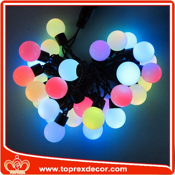 High Quality Cotton Ball Led Christmas Star String Lights