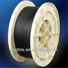 end glow fiber optic cable with black jacketing