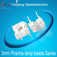 piranha led 3 mm super flux led blue color high quality and 2 year warranty