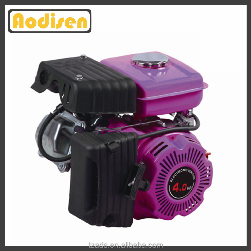 stable performance general purpose horizontal shaft air-cooled 5.5hp small gasoline petrol engine