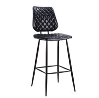 Free sample leather vintage Bar stool supplier/pub modern bar chair