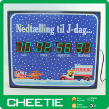 8 Digit Christmas Countdown Director Clock Timer LED Display Counter