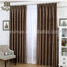 Luxury yarn dyed blackout faux suede new design curtain
