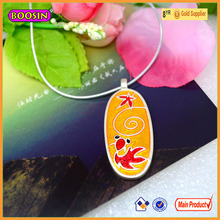 Fashion jewelry silver necklace goldfish chasing leaf red pendant necklace charms China manufacturer wholesale # 16554