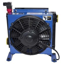 hydraulic oil package cooler with elctrical fan