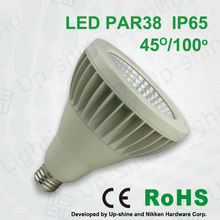 CE SAA UL Energy Star certificated IP65 led outdoor light CRI>80 cob led high lumen output led par 38 with triac dimmer