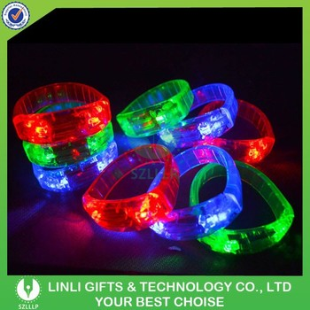 Button Cell Operated Blinking LED Bracelet