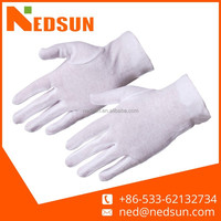 Cotton white traffic gloves