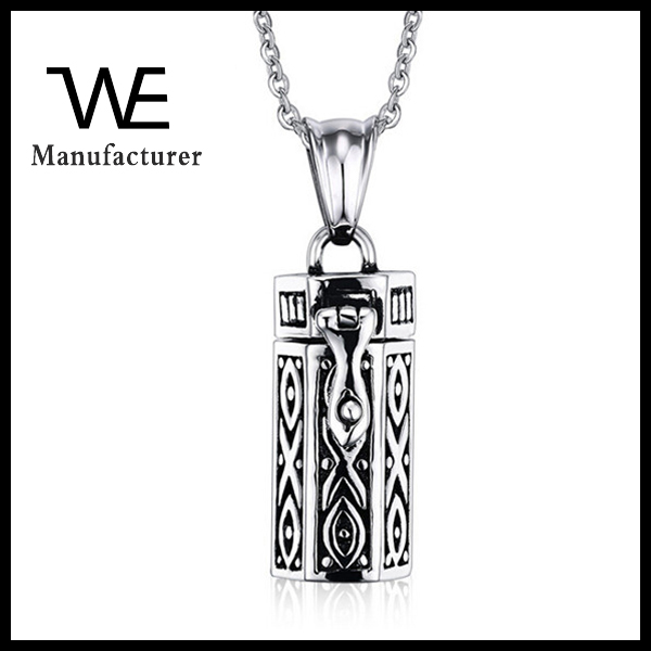 Stainless Steel Fashion Jewelry Wholesale Ashes Cuboid Pendant Pet Pendant