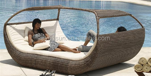 Ventilate Outdoor Nice Rattan Chaise Lounge&rattan Garden ...