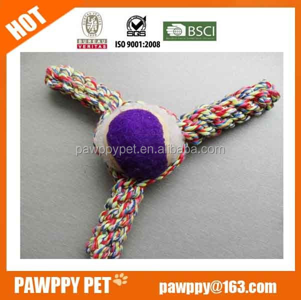 pet product supplier-Everfriend tennis ball circle cotton rope chewing toy for dogs