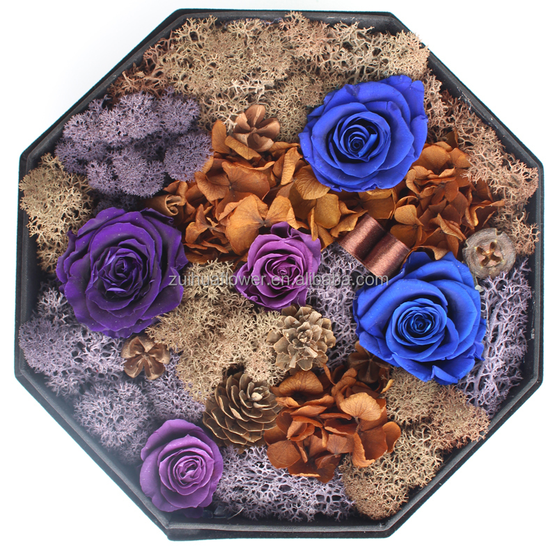 gift box wholesale preserved flower and moss