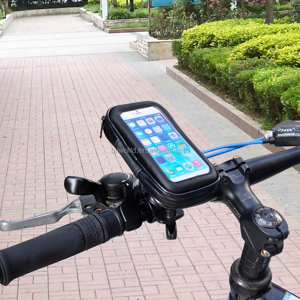 Motorcycle Bicycle Bike Handlebar Holder Mount With Waterproof Case for iphone and Samsung