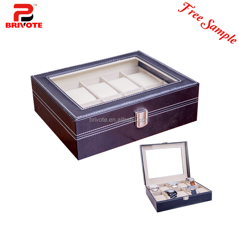 Top quality hot sale brand leather wooden paper watch packaging box