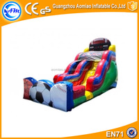 Customized sports themed inflatable slide step 2 bouncer with stair slides