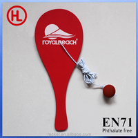 2015 TOP QUALITY Color Wooden Beach tennis racket /beach bat /beach paddle set with beach ball for kids wholesale