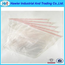 Resealable airtight plastic packging jewelry zipper packaging bag