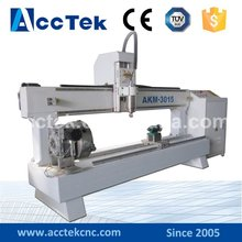 30*1500mm AKM3015 China CNC router machine for statue woodworking sale cnc rotary table