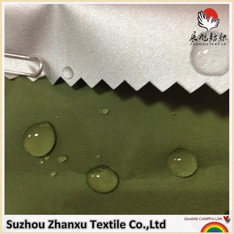 Low price of 190t polyester pu coated fabric for raincoats China manufacturer
