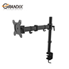 Economy steel articulating desktop swivel laptop monitor arm,standing VESA lcd monitor desk mount