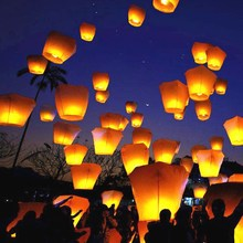 Flying paper wish lantern, Biodegradable hot air paper balloon, China factory price flying lantern sky