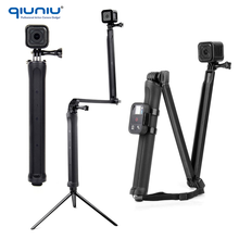 QIUNIU Large Size Extension Arm Tripod 3 Way Grip Arm Tripod Bracket Monopod for Gopro Hero 5 4 3 2 SJ4000 Xiaomi Yi