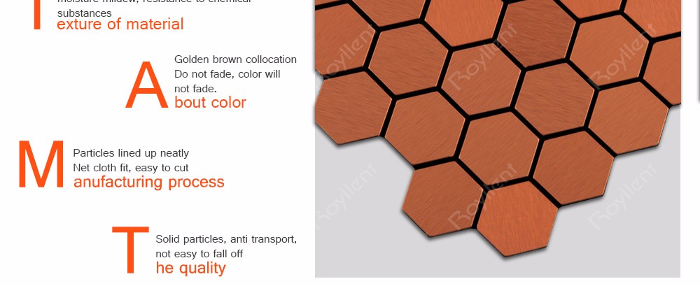 Rhombus Gold Mosaic tile Modern Kitchen Bathroom Interior Home Decoration Design Building Materials China Supplier RM201634