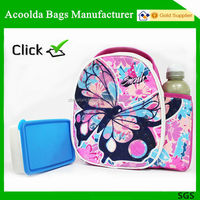 Promotional customerized polyester 600D zipper cooler lunch bag