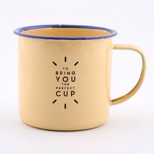 Customized Enamelled Cup, Vintage Style Enamelled Mug Coffee Cup